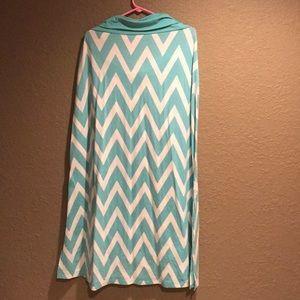 Vanity blue and white fold over skirt